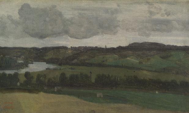 Jean-Baptiste-Camille Corot: 'The Seine near Rouen'