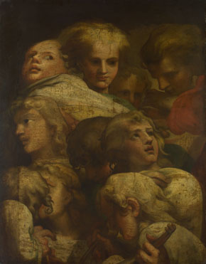 After Correggio: 'Group of Heads'