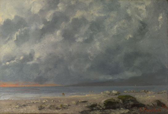 Gustave Courbet: 'Beach Scene'