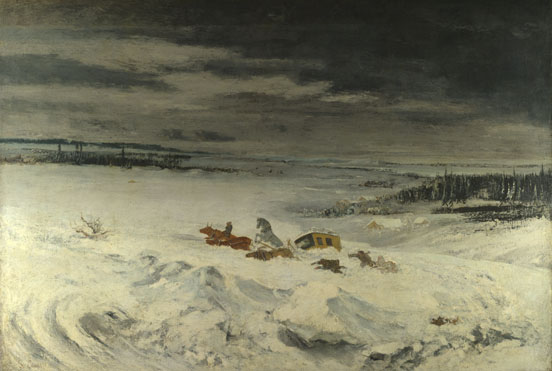 Gustave Courbet: 'The Diligence in the Snow'