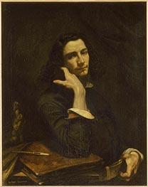 Gustave Courbet, 'L'Homme à la Ceinture de Cuir, Portrait de l'Artiste', about 1845-6. Musée d'Orsay, Paris.