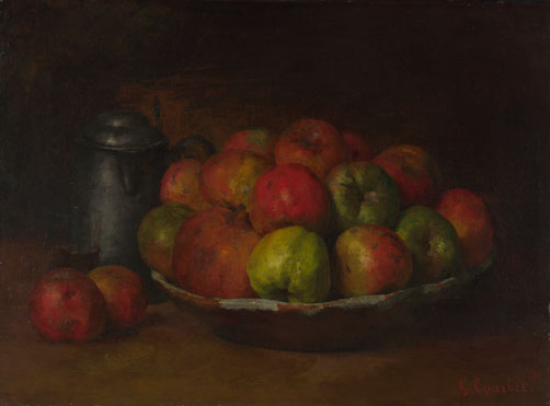 Gustave Courbet: 'Still Life with Apples and a Pomegranate'