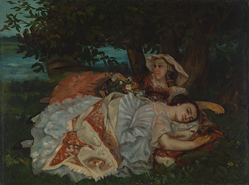 Gustave Courbet, 'Young Ladies on the Bank of the Seine'