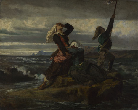 Imitator of Thomas Couture: 'Caught by the Tide'
