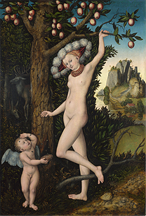 Lucas Cranach the Elder 'Cupid complaining to Venus', about 1525