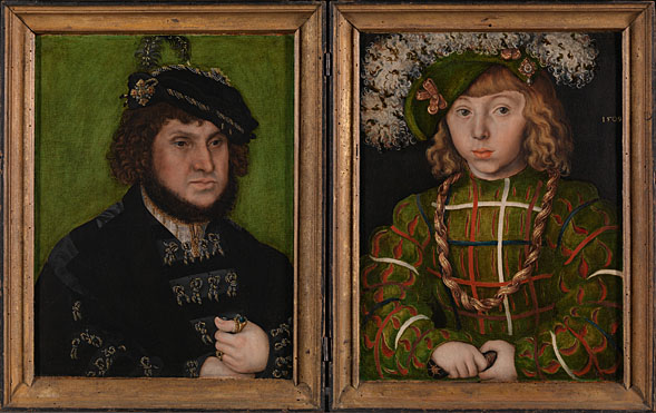 Lucas Cranach the Elder: 'Diptych: Two Electors of Saxony'