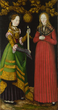 Lucas Cranach the Elder: 'Saints Genevieve and Apollonia'