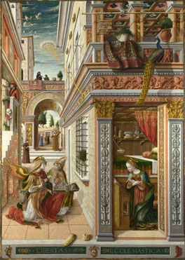Carlo Crivelli: 'The Annunciation, with Saint Emidius'