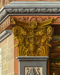 Carlo Crivelli: Detail showing a capital from 'The Annunciation, with Saint Emidius'.