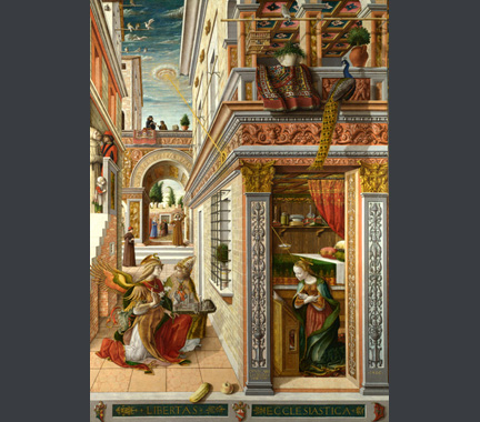 Carlo Crivelli: 'The Annunciation, with Saint Emidius'.