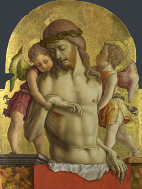 Carlo Crivelli: 'The Dead Christ supported by Two Angels'
