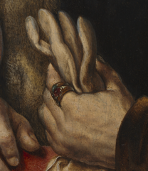 Jan Gossaert, 'Man holding a glove'