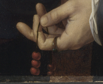Detail from Jan Gossaert: 'Man with a Rosary'