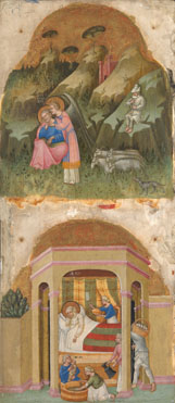 Dalmatian: 'Saint Joachim and the Angel; The Birth of the Virgin'