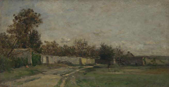 Charles-François Daubigny: 'The Garden Wall'