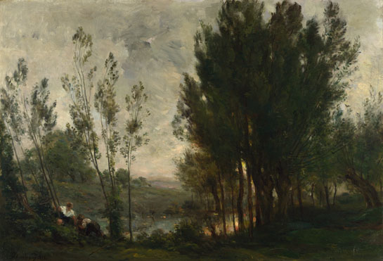 Charles-François Daubigny: 'Willows'