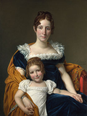 Jacques-Louis David: 'Portrait of the Comtesse Vilain XIIII and her Daughter'