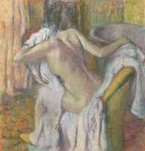 Degas, 'After the Bath, Woman drying herself', about 1890-5