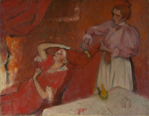 Hilaire-Germain-Edgar Degas: 'Combing the Hair ('La Coiffure')'