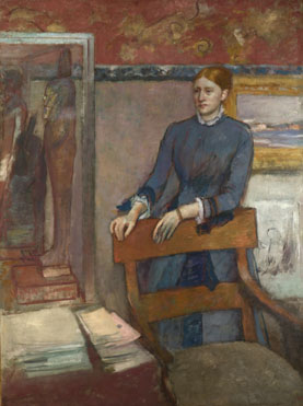Hilaire-Germain-Edgar Degas: 'Hélène Rouart in her Father's Study'