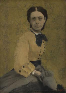 Hilaire-Germain-Edgar Degas: 'Princess Pauline de Metternich'