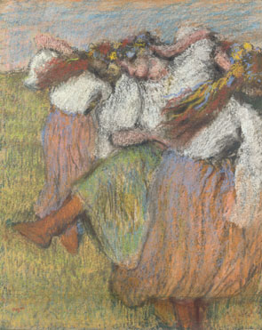 Hilaire-Germain-Edgar Degas: 'Russian Dancers'