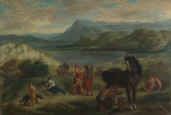Eugène Delacroix: 'Ovid among the Scythians'
