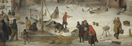 Avercamp 'A Scene on the ice near a town'