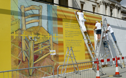 Workers Pasting EWRP Hoarding