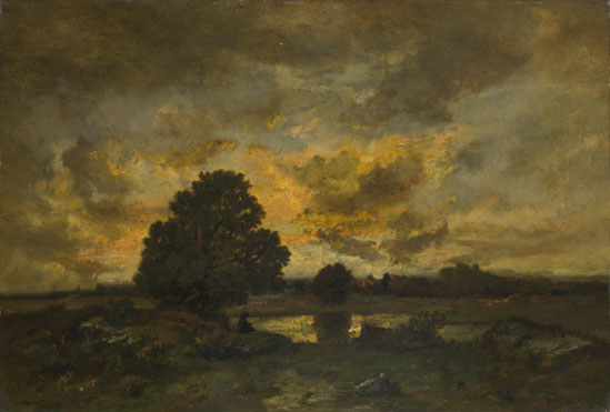 Narcisse-Virgilio Diaz de la Peña: 'Common with Stormy Sunset'