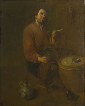 Arent (?) Diepraem: 'A Peasant seated smoking'