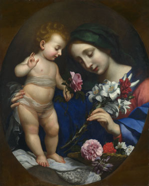 After Carlo Dolci: 'The Virgin and Child with Flowers'
