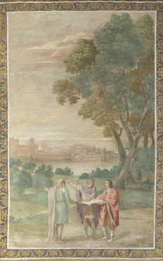 Domenichino and assistants: 'Apollo and Neptune advising Laomedon'