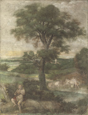 Domenichino and assistants: 'Mercury stealing the Herds of Admetus'