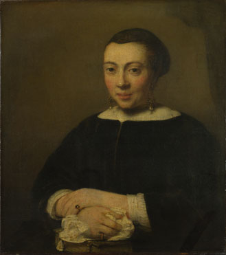 Attributed to Willem Drost: 'Portrait of a Young Woman'