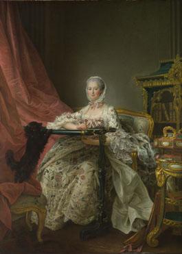 François-Hubert Drouais: 'Madame de Pompadour at her Tambour Frame'
