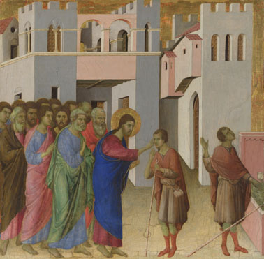 Duccio: 'Jesus opens the Eyes of a Man born Blind'