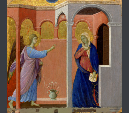 Duccio: 'The Annunciation'.