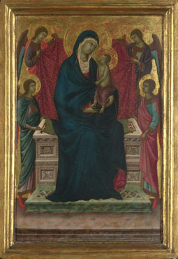 Follower of Duccio: 'The Virgin and Child with Four Angels'