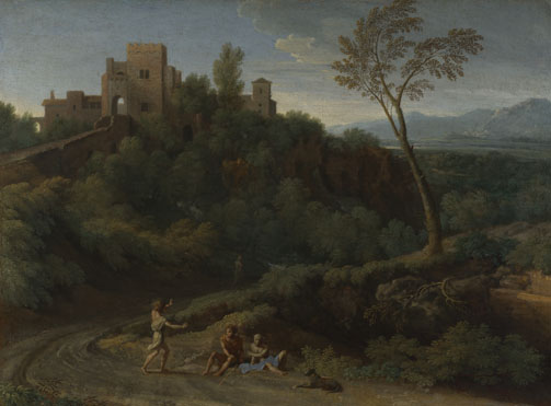 Gaspard Dughet: 'Imaginary Landscape with Buildings in Tivoli'