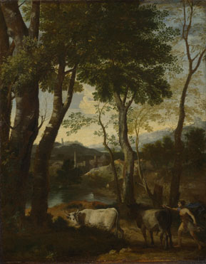 Gaspard Dughet: 'Landscape with a Cowherd'