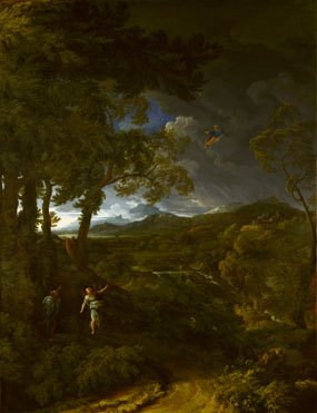 Gaspard Dughet: 'Landscape with Elijah and the Angel'