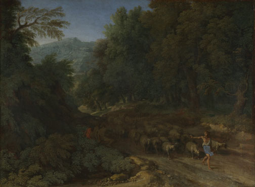 Gaspard Dughet: 'Landscape with a Shepherd and his Flock'