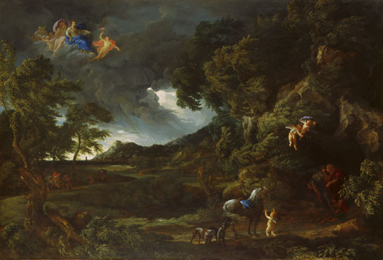 Gaspard Dughet: 'Landscape with the Union of Dido and Aeneas'