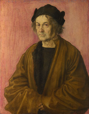 Attributed to Albrecht Dürer: 'The Painter's Father'