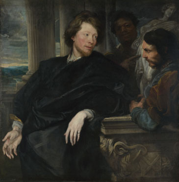 Anthony van Dyck: 'Portrait of George Gage with Two Attendants'