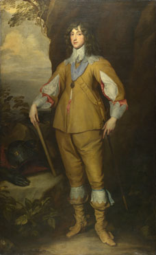 Studio of Anthony van Dyck: 'Prince Charles Louis, Count Palatine'