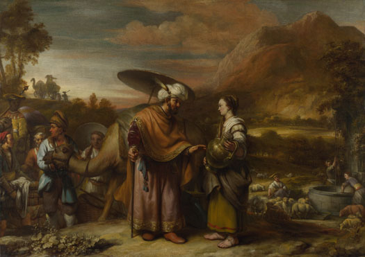 Gerbrand van den Eeckhout: 'Rebekah and Eliezer at the Well'