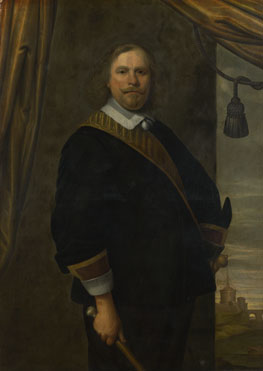 Attributed to Cesar van Everdingen: 'Portrait of a Dutch Commander (?)'