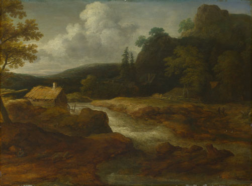 Allart van Everdingen: 'A Saw-mill by a Torrent'